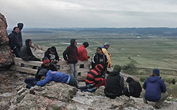 The cultural trip included stops at both Bear Butte and Harney Peak.