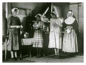 Image of the first four Sisters at St. Joseph's Indian School.