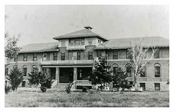 Image of the original St. Joseph's Indian School building.