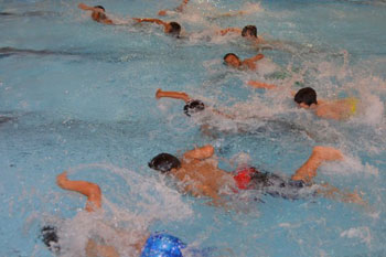 Sixty Students Run, Pedal and Swim into New School Year