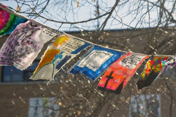 Prayers in the Wind: St. Joseph's Students Make Prayer Flags