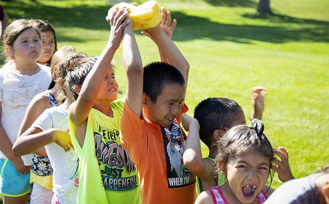 It's easy to cool off when camp is filled with fun water activities and games!