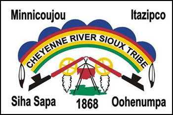 South Dakota reservations - Cheyenne-River-Sioux-Tribe flag