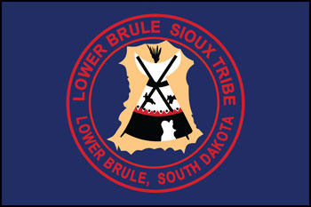 South Dakota reservations - Lower Brule Sioux Tribe flag
