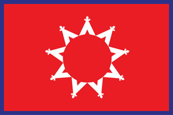 South Dakota reservations - Oglala Oyate flag
