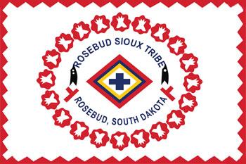 South Dakota reservations - Rosebud Sioux Tribe flag