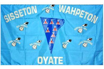 South Dakota reservations - Sisseton Wahpeton Oyate flag