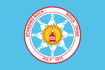 South Dakota reservations - Standing Rock Sioux Tribe flag