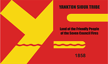 South Dakota reservations - Yankton Sioux Tribe flag